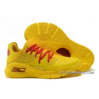 2017 Under Armour Curry 4 Low Bruce Lee Yellow Red Latest