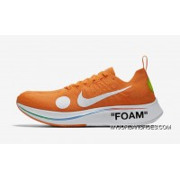 Off-White X Nike Zoom Fly Mercurial Flyknit OW AO2115-800 Orange 2018 Russia FIFA World Cup New Style