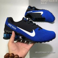 Nike AIR SHOX FLYKNIT Zoom Running Shoes 2018 Russia FIFA World Cup BLUE Outlet