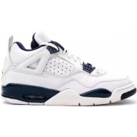 Air Jordan 4 Retro 1999 White Columbia Blue Midnight Navy