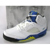 Air Jordan 5 Retro Laney High School White Varsity Royal Maize