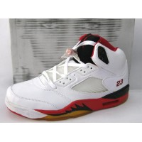 Air Jordan 5 Fire Red White Black 23