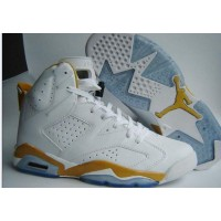Air Jordan 6 White Varsity Maize