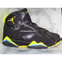 Air Jordan 7 Retro Black Yellow Sky Blue