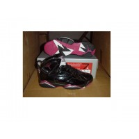 Air Jordan 7 Retro Black Wine Red Silver