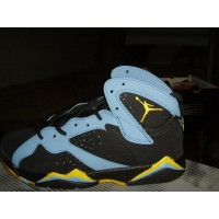 Air Jordan 7 Retro Black Blue Yellow