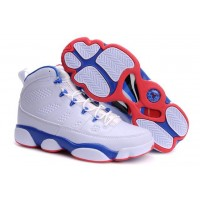 Air Jordan 9 White Blue Red