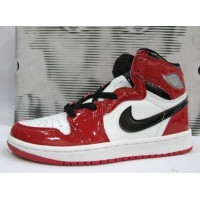 Air Jordan 1 Retro Patent Leather White Black Varsity Red