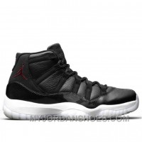 Women's Air Jordan 11 Retro 72-10 Black/Gym Red-White-Anthracite Authentic