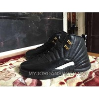 Air Jordan 12 All Black Big Kids/ Girl Size Youth Shoes 4y-7y Ftsdj