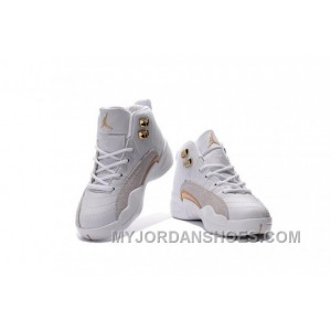 Shop Air Jordan 12 OVO White And Gold Release Date For Kids TzJtz