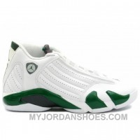 Air Jordan Retro 14 White Forest Green 311832-131 JH8sZ