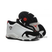 "Girls Air Jordan 14 Retro GS ""Black Toe"" White/Black-Varsity- Red Sale FDzwD"