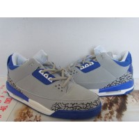 Air Jordan 3 Retro Grey Blue White