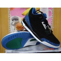 Air Jordan 3 Retro Black Blue Green