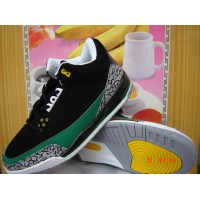 Air Jordan 3 Retro Black Green White