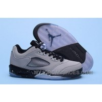Nike Air Jordan 5 Low Wolf Grey Men 3MxSm