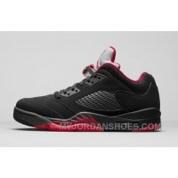 Air Jordan 5 Low Alternate 90 Black/Gym Red-Metallic Hematite 819171-001 3kwfS