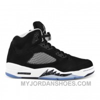 136027-035 Air Jordan 5 Retro Black Cool Grey-White (Women Men) JsdNT