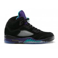 136027-007 Air Jordan 5 Retro Grapes Black New Emerald-Grape Ice-Black  (Women Men) CtHT8