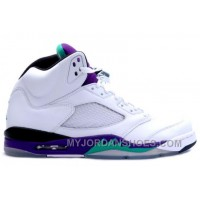 136027-108 Air Jordan 5 Retro Grape White New Emerald-Grape Ice-Black (Women Men) NcWd3
