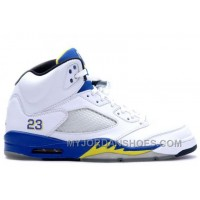 136045-141 Air Jordan Retro 5 (V) Laney White Varsity Royal Varsity Maize A05007 QC8Fh
