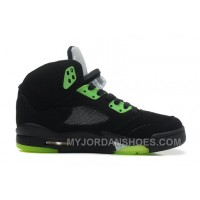 440888-511 Air Jordan 5 Quai 54 Black Radiant Green WQFey
