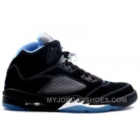 314259-041 Air Jordan 5 (V) Retro LS Black University Blue White A05008 WFY7Y