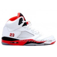 136027-162 Air Jordan 5 (V) Retro Fire Red White Fire Red Black A05004 YtKWF