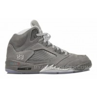 136027-005 Air Jordan Retro 5 (V) Wolf Grey Light Graphite White Wolf Grey A05001 IwpNn