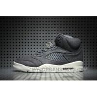 Air Jordan 5 Wool Dark Grey New Release STzDieH