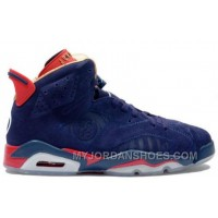 392789-401 Air Jordan 6 (VI) Doernbecher Navy Red Gold A06013