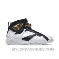 Authentic 725093-140 Air Jordan 7 Retro C&C White/Metallic Gold-Black 2kHmP