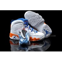 Cheap Nike Air Jordan 9 Kids White Orange Blue