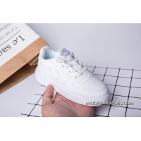 Kids Nike Air Force One All White Top Deals