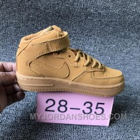 NIKE AIR FORCE 715889-200 Kids Preschool AF1 Wheat Children New Style TMMY8wm