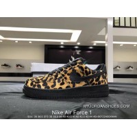 Nike Air Force 1 AF1 WMNS Air Force 1 LX Women Men Yellow Leopard Latest