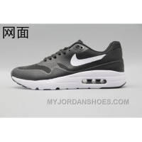 Nike Air Max 1 Ultra Flyknit 87 Oreo Black White Men Women Authentic PM6XrW
