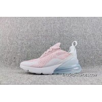 Nike Air Max 270-21 Overseas Version Heel Half-palm As Jogging Shoes Pink White AH6789-602 Women Shoes Latest