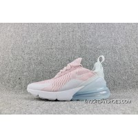 Nike Air Max 270 Overseas Version Of The Heel Half-palm As Jogging Shoes Pink White AH6789-602-18 New Year Deals