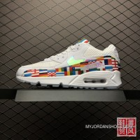 Nike Air Max 90 NIC QS International Banner Flag International World Cup Limited Retro Zoom Running Shoes AO5119-10013 Discount