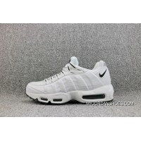 Nike Air Max 95White Black Mesh Zoom Running Shoes White And Black 609048-109 Top Deals