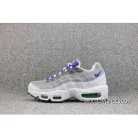 Nike Womens Air Max 95 White Court Purple-Emerald Green-Wolf Grey White Purple Light Grey With 307960-101 And A Half For Sale
