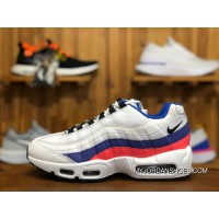22011 Nike Air Max 95 AM95 White Blue Zoom Women And Men Running Shoes 749766-106 Size Best