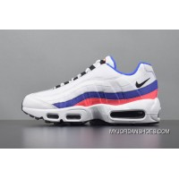749766-106 Nike Air Max 95 TT Retro Zoom All-match Jogging Shoes Series OG White Blue Pink Discount