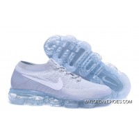 Nike Air 2018 VaporMax Flyknit Steam Zoom Air Jogging Shoes High Quality Grey White 849558-004 Top Deals
