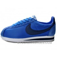 Nike Classic Cortez Nylon Game Royal Navy White Top Deals 8MKmYn