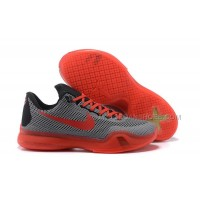 Cheap Nike Kobe 10 Grey Red Black New For Sale