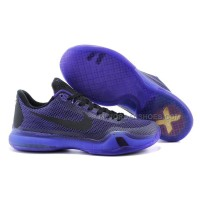 "Cheap Nike Kobe 10 ""Blackout"" Laker Purple/Black-Persian Violet Sale Online"