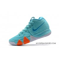 "Mens Nike Kyrie 4 ""Power Is Female"" Light Aqua/Neo Turquoise Shoes Top Deals"